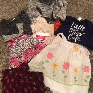 12 mos girls dresses lot